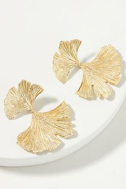 Gingko Leaf Drop Earrings