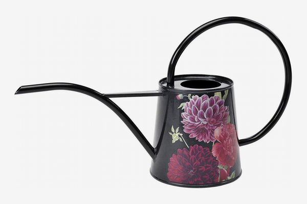 Burgon and Ball Galvanized Steel Indoor Watering Can, Peonies and Dahlias, 34-Ounce