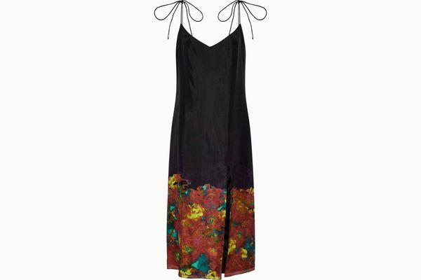 ACNE STUDIOS Floral-print silk midi dress