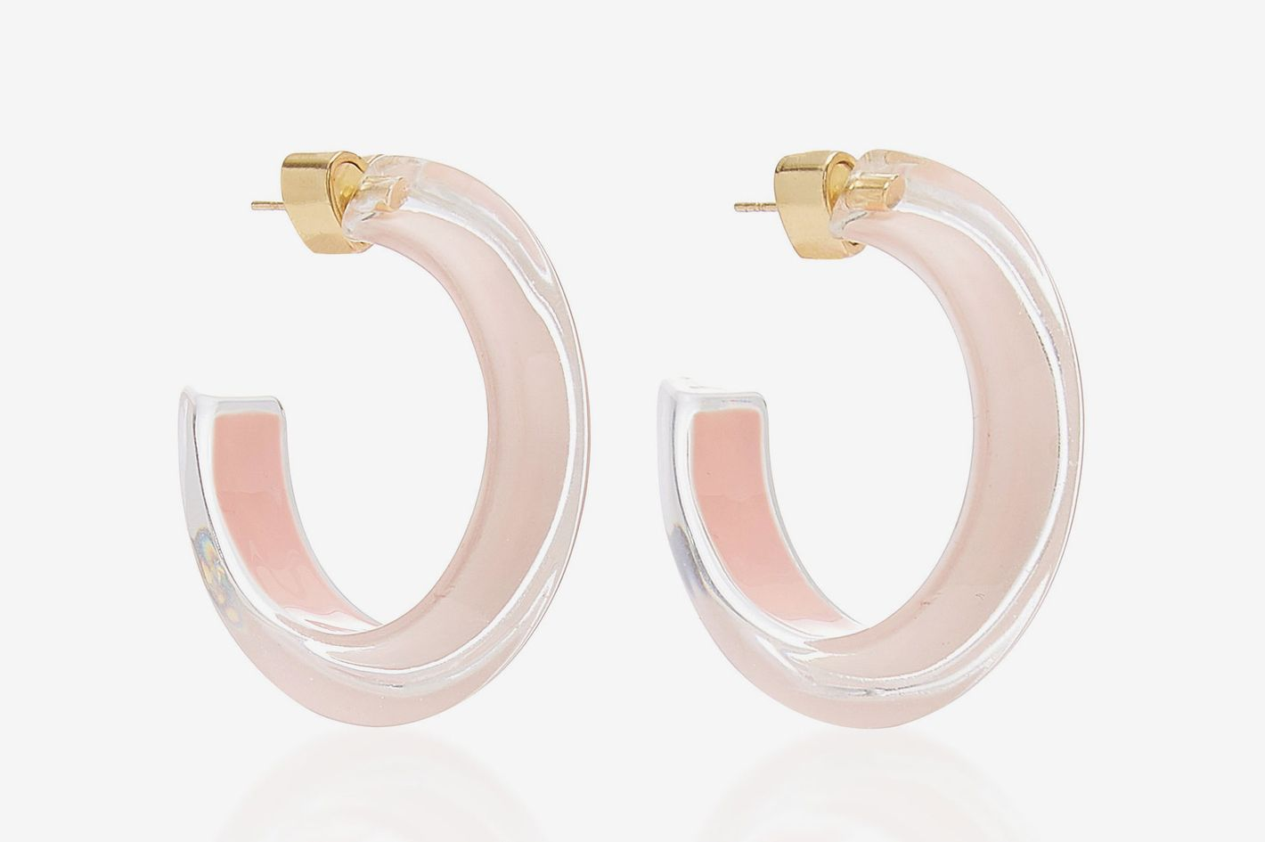 Alison Lou Small Jelly Lucite Hoop Earrings