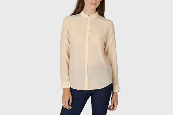 Everlane Slim Silk Shirt