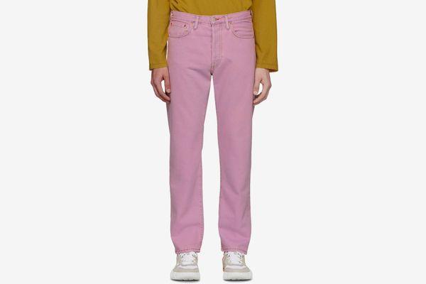 Acne Studios Pink Blå Konst 1996 Jeans