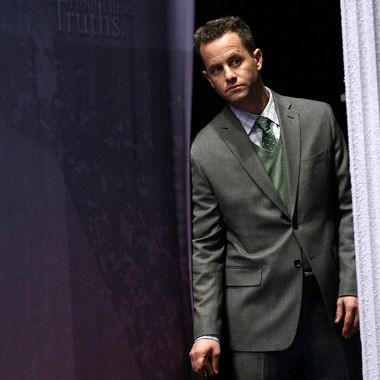 WASHINGTON, DC - FEBRUARY 09:  Actor Kirk Cameron waits backstage while being introduced before speaking at the annual Conservative Political Action Conference (CPAC) February 9, 2012 in Washington, DC. Thousands of conservative activists are attending the annual gathering in the nation's capital.  (Photo by Win McNamee/Getty Images)
