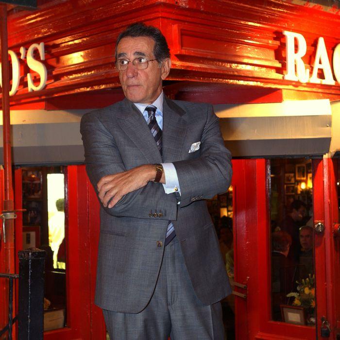 Frankie Pellegrino, outside Rao's.