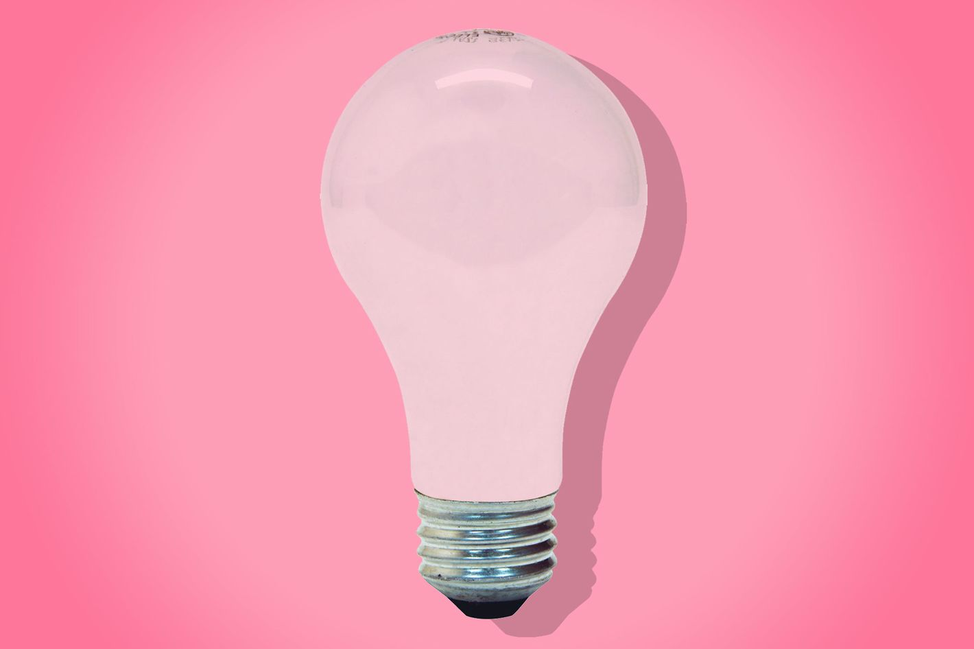 pink GE light bulbs - strategist best home decor and best light bulbs