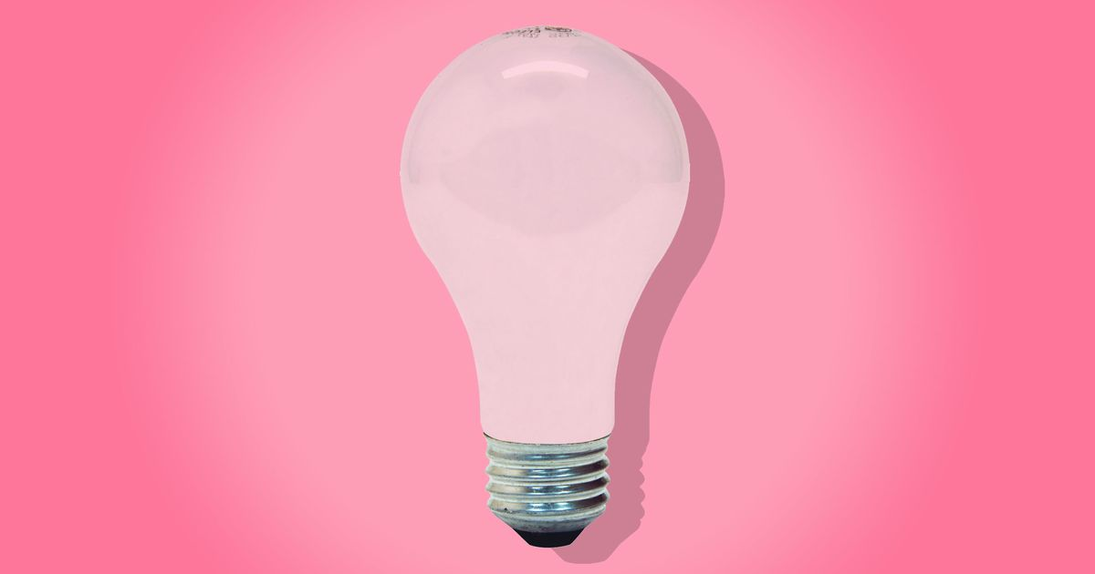 Pink Light Bulbs Are My Secret Apartment-Decorating Tip