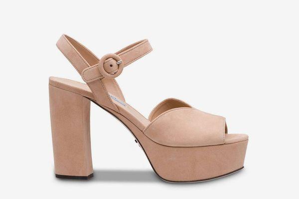 Prada High Platform Sandals