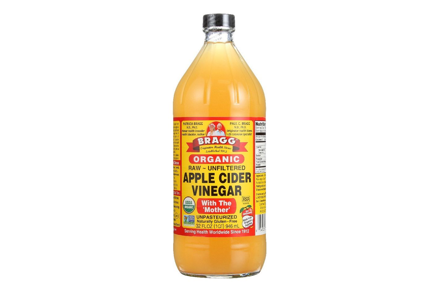 Bragg's Organic Apple Cider Vinegar (Raw and Unfiltered), 32 oz.