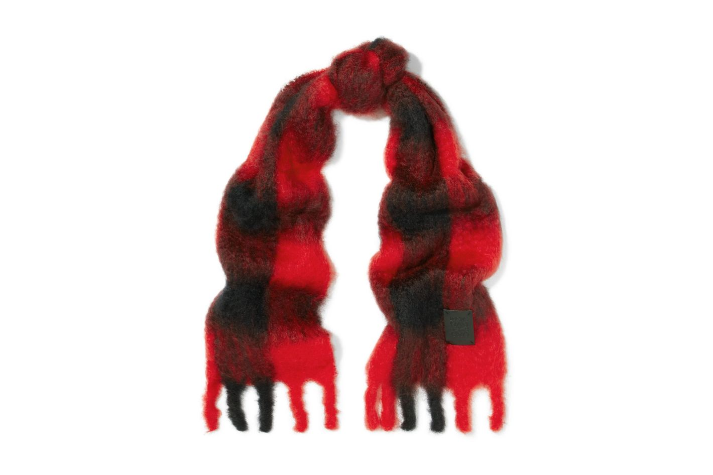 LOEWE Plaid mohair and wool-blend scarf
