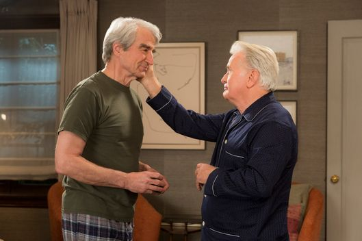 Sam Waterston as Sol, Martin Sheen as Robert.