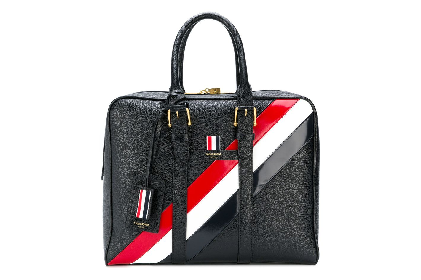 Thom Browne Three-Colored Oblique Detail Tote