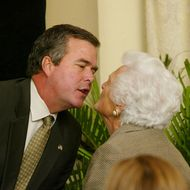 Barbara Bush Attends Miami Book Fair