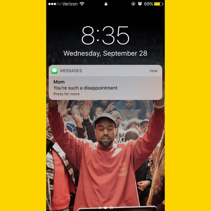Kanye West Makes Perfect IPhone Lock Screen