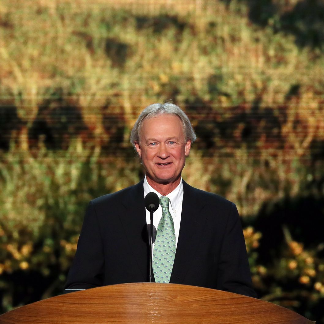 CHARLOTTE, NC - SEPTEMBER 04:  Rhode Island Gov. Lincoln Chafee speaks during day one of the Democratic National Convention at Time Warner Cable Arena on September 4, 2012 in Charlotte, North Carolina. The DNC that will run through September 7, will nominate U.S. President Barack Obama as the Democratic presidential candidate.  (Photo by Alex Wong/Getty Images)