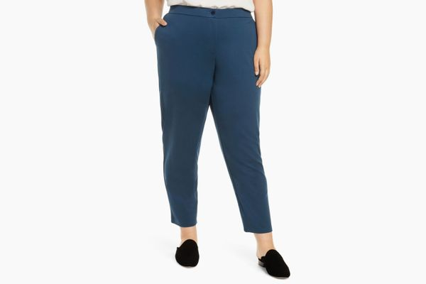 Eileen Fisher Slouchy Tencel® Lyocell Blend Ankle Pants