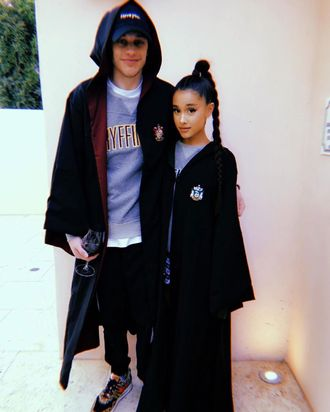 Pete Davidson and Ariana Grande.