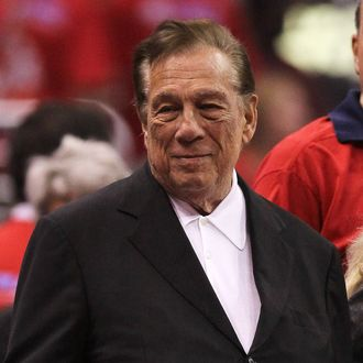 Los Angeles Clippers owner Donald Sterling stands on the sidelines before the game with the Memphis Grizzlies in Game Three of the Western Conference Quarterfinals in the 2012 NBA Playoffs on May 5, 2011 at Staples Center in Los Angeles, California.