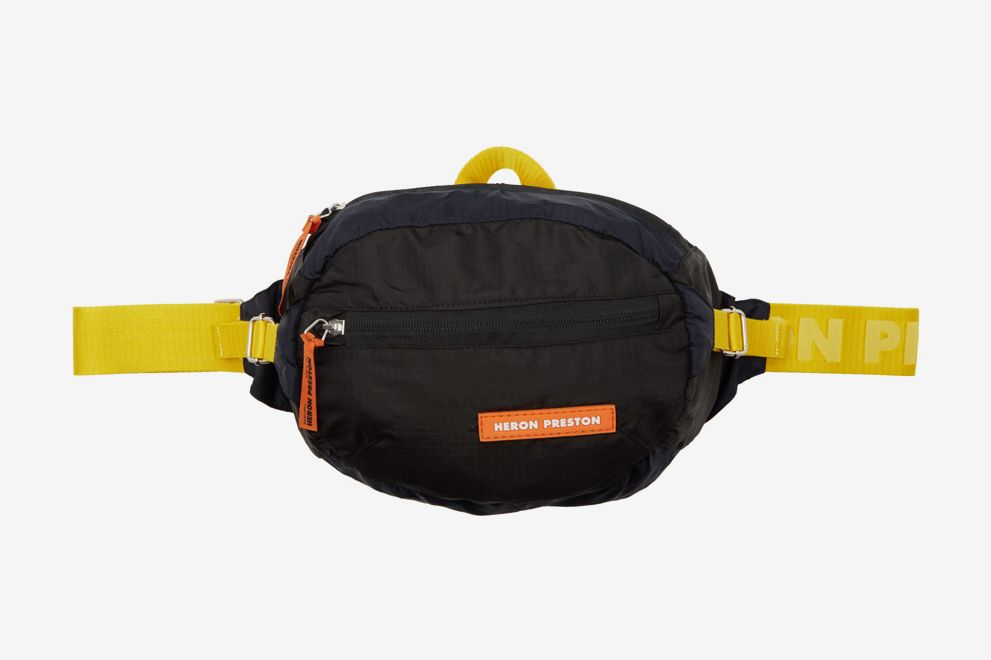 Heron Preston Black HP Fanny Pack