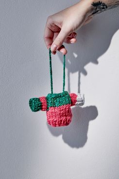 Urban Outfitters Urban Renewal Remnants Mini Sweater Christmas Ornament