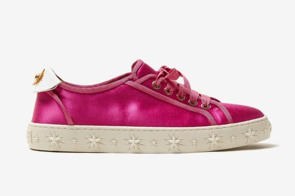 Aquazzura L.A. low-top satin trainers