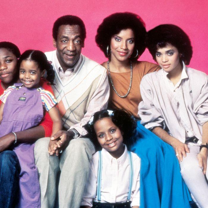 Malcolm-Jamal Warner, Keshia Knight Pulliam, Bill Cosby, Phylicia Rashad and Lisa Bonet (top row, from left), Tempestt Bledsoe (bottom)