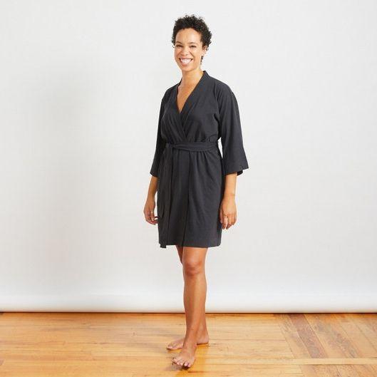 Coyuchi Women's Solstice Organic Kimono Robe