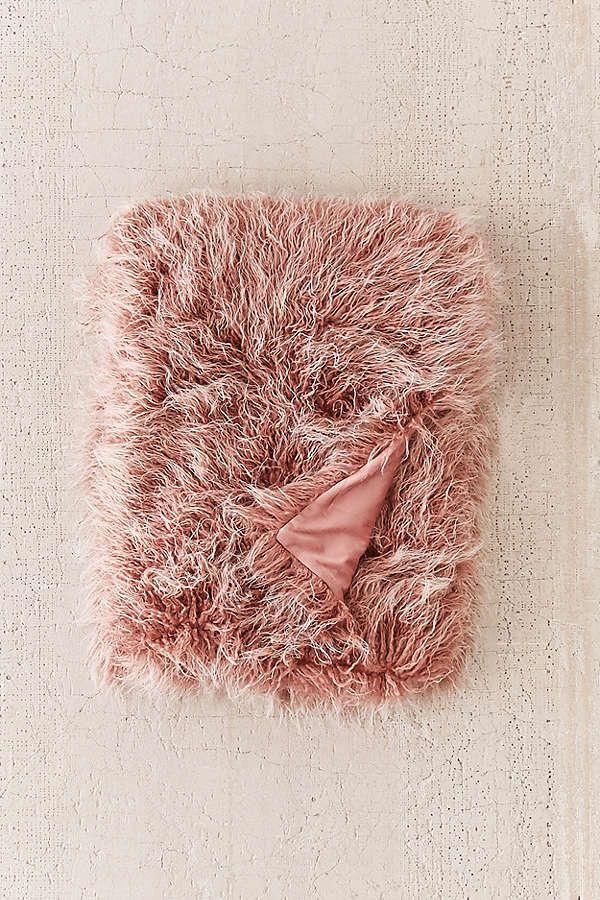 Marisa Tipped Faux Fur Throw Blanket