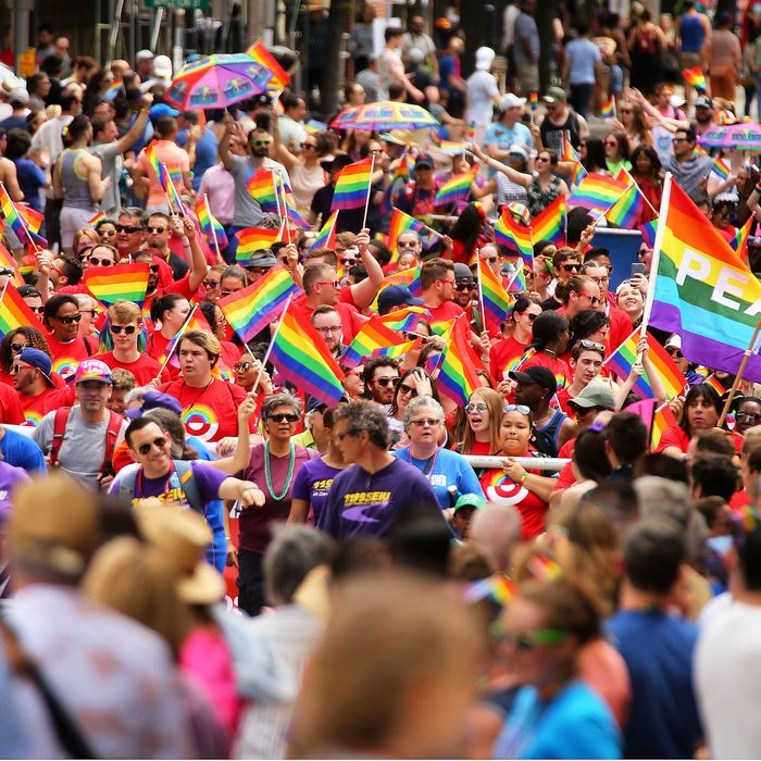 Boston Pride parade.