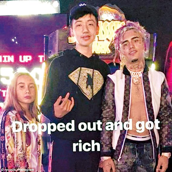 48430d1bf92a Lil Tay with her brother, Jason Tian (center), and the rapper Lil Pump.  Photo: © rycie2k / Instagram. ""