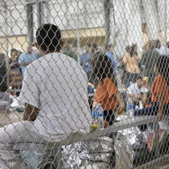 The processing detention center in McAllen, Texas.