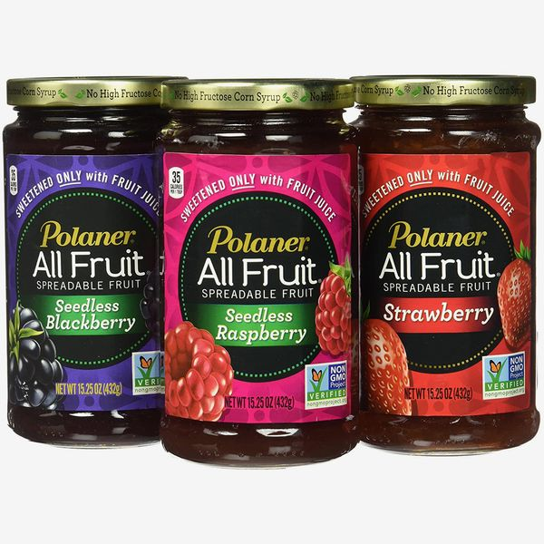Polaner All Fruit Non-GMO Spreadable Fruit, Assorted Flavors (Pack of 3)