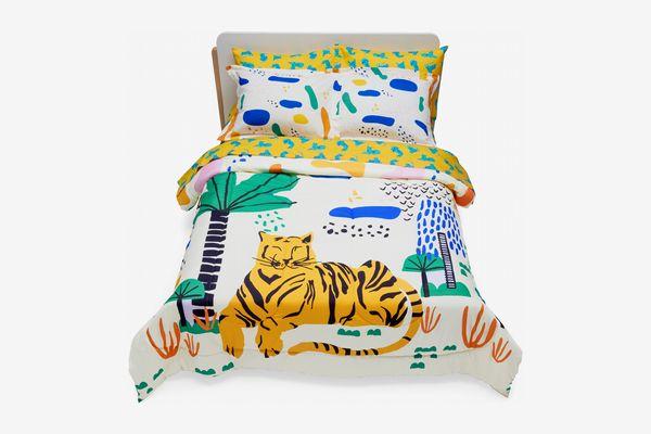 Drew Barrymore Flower Kids Jungle Tiger Complete Bedding Set