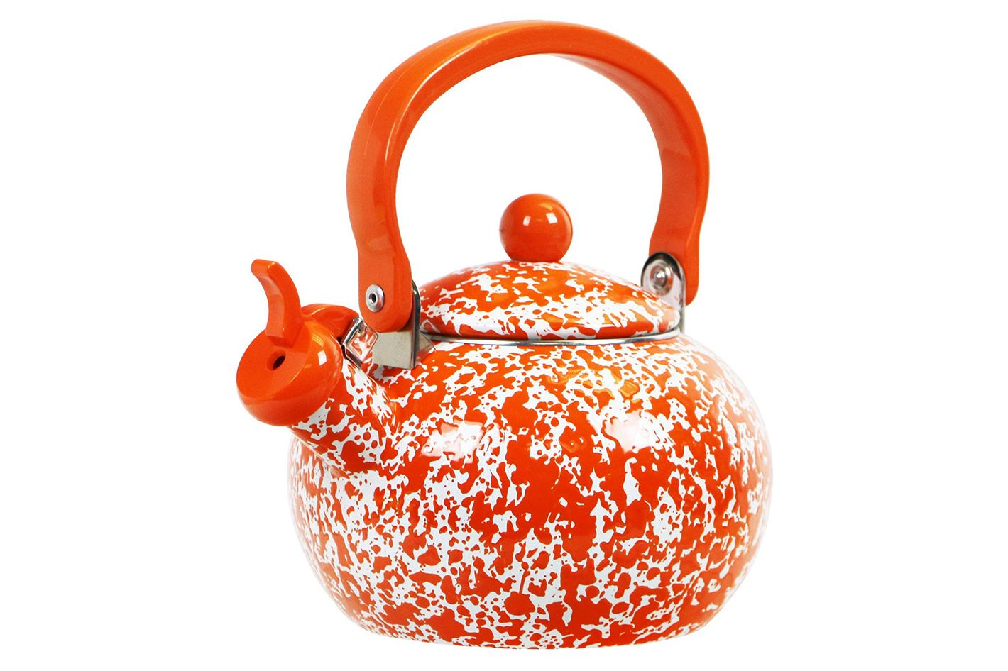 Calypso Basics by Reston Lloyd Whistling Teakettle, 2-Quart, Orange Marble