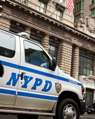 NEW YORK, NY - JANUARY 26: A New York Police Department (NYPD) van is viewed on January 26, 2012 in New York City. After New York City's police commissioner Raymond Kelly appeared in the film