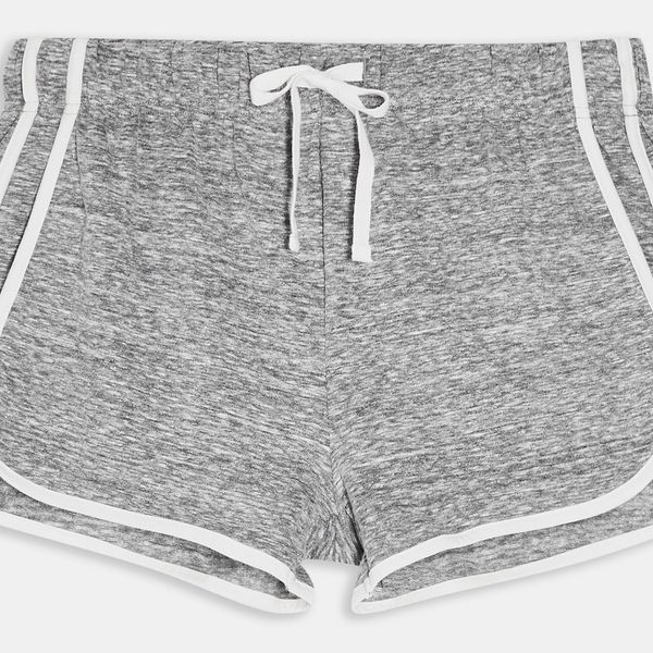 Grey Sporty Neppy Runner Shorts