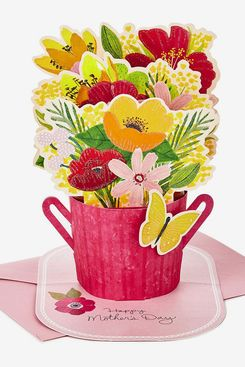 Hallmark Paper Wonder Mothers Day Pop Up Card (Flower Bouquet, You Deserve This Day)