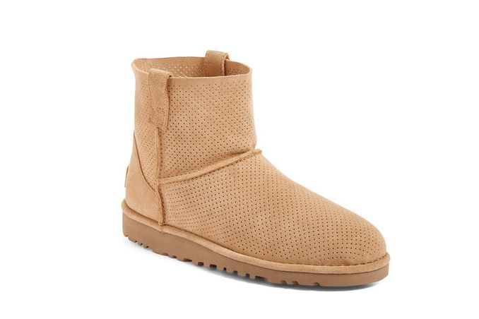 Ugg Australia Classic Unlined Mini Perforated Leather Boot