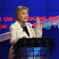 Hillary Clinton And Bernie Sanders Spar At Democratic Debate In Brooklyn