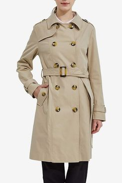 Orolay Women's Long Double Breasted Trench Coat with Belt Midi Length Overcoat