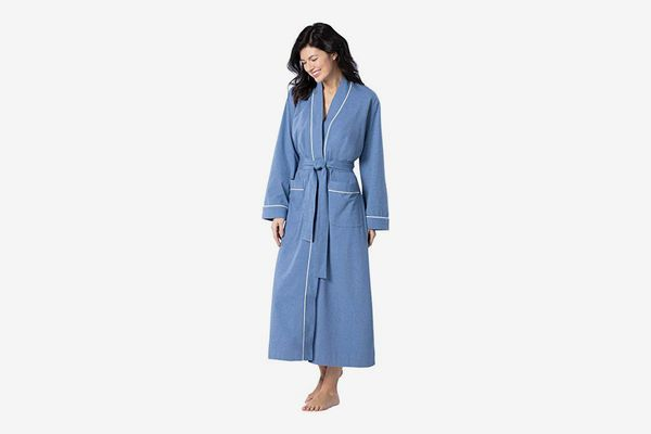 PajamaGram Long Women's Cotton Robe