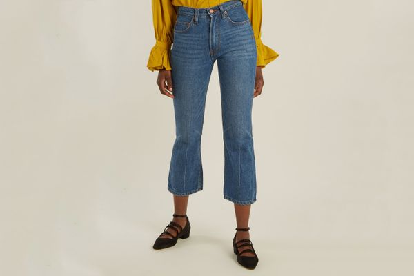 Bliss & Mischief Cowboy-Fit Bootcut Cropped Jeans