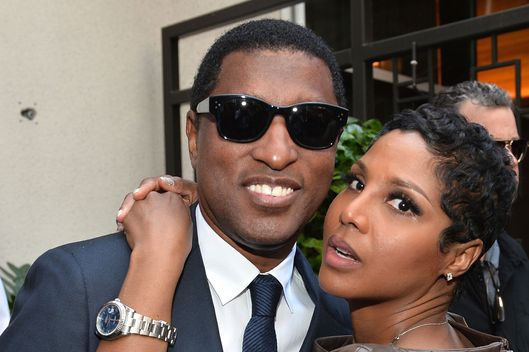 "Singer Toni Braxton (r) and songwriter/record producer Kenny ""Babyface"" Edmonds attend a ceremony honoring Kenny ""Babyface"" Edmonds with the 2508th Star on the Hollywood Walk of Fame on October 10, 2013 in Hollywood, California."