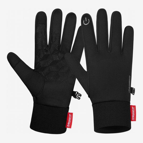 Anqier Winter Warm Gloves, Touchscreen Anti-Slip