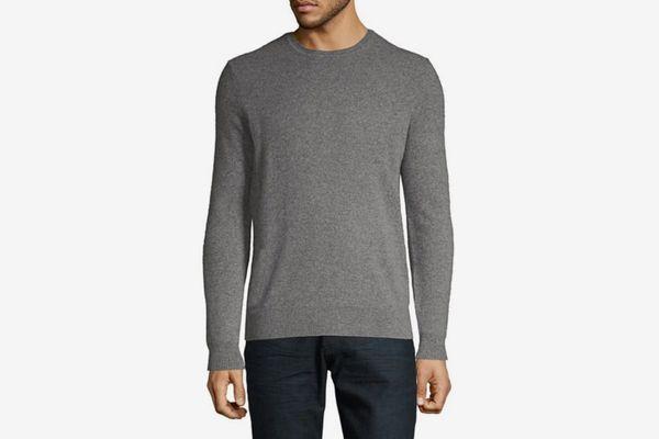 Lord & Taylor Men's Black Brown 1826 Crewneck Cashmere Sweater