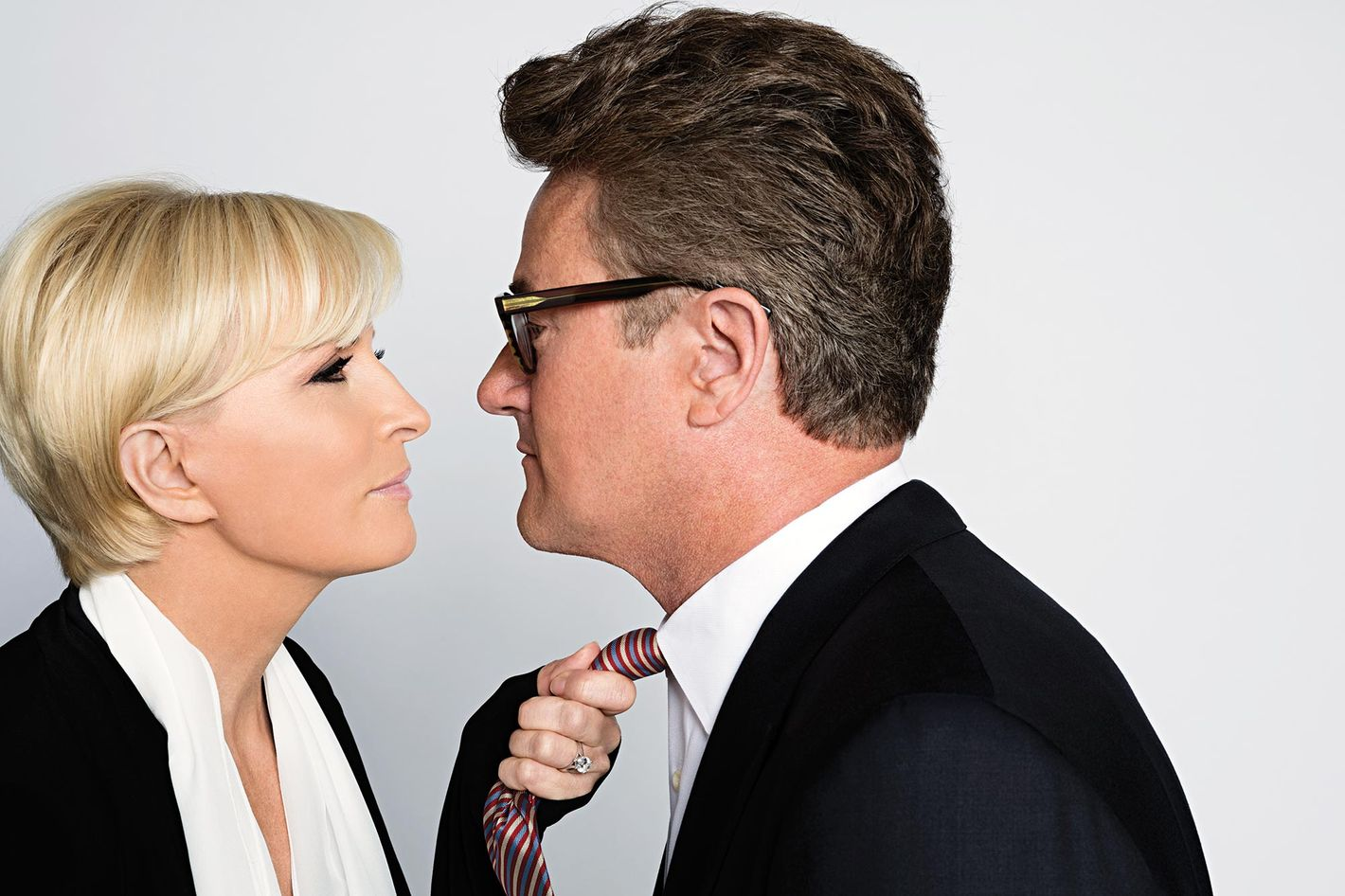 Image result for mika brzezinski images and joe scarborough tie grabbing