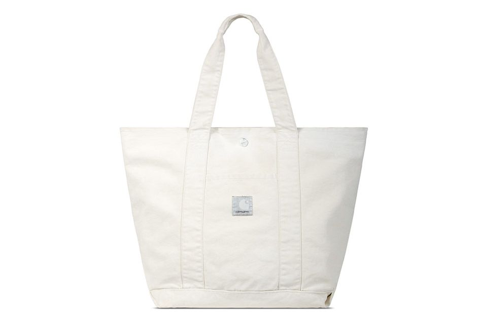 Carhartt WIP x SlamJam Putty Coated Duck Canvas Simple Tote Bag