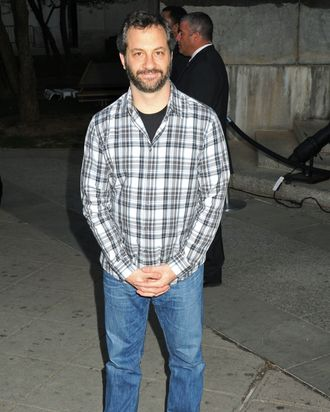 Celebrity guests arrive for the Annual Tribeca Film Festival/Vanity Fair Party, held at the State Supreme Court in NYC. - Judd Apatow