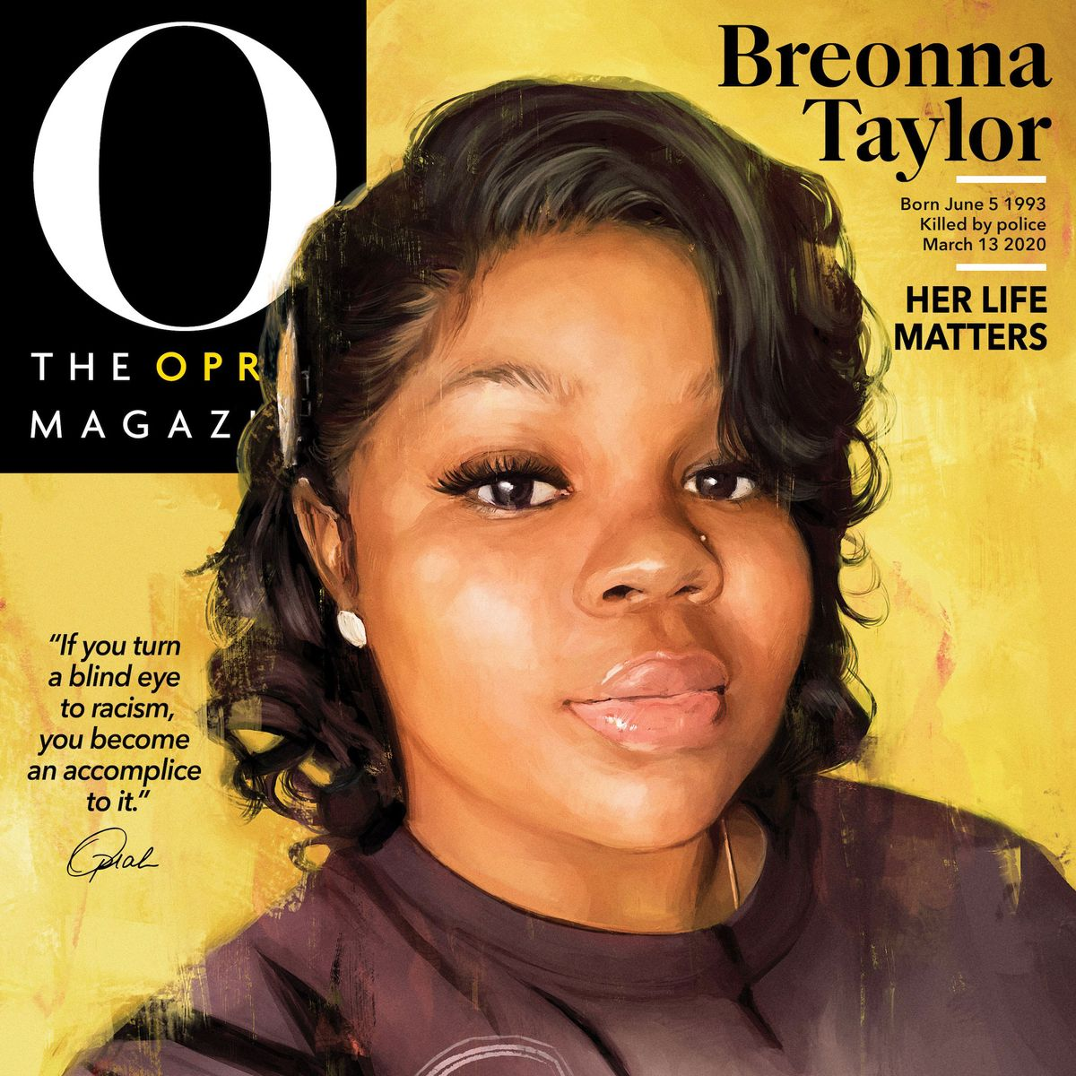 Oprah Honors Breonna Taylor On The Cover Of O Mag