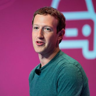 Mark Zuckerberg delivers his keynote address on the opening day of the World Mobile Congress on February 22, 2016 in Barcelona, Spain.