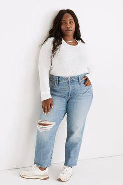 Madewell The Plus Perfect Vintage Straight Jean in Reinhart Wash